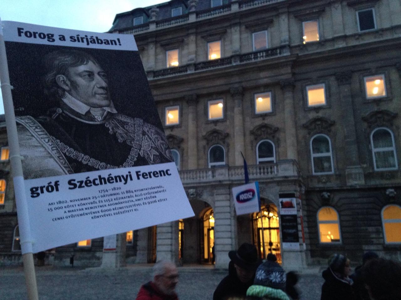 Kultúrmunkások tüntetnek a Magyar Kultúra Napja előtt
