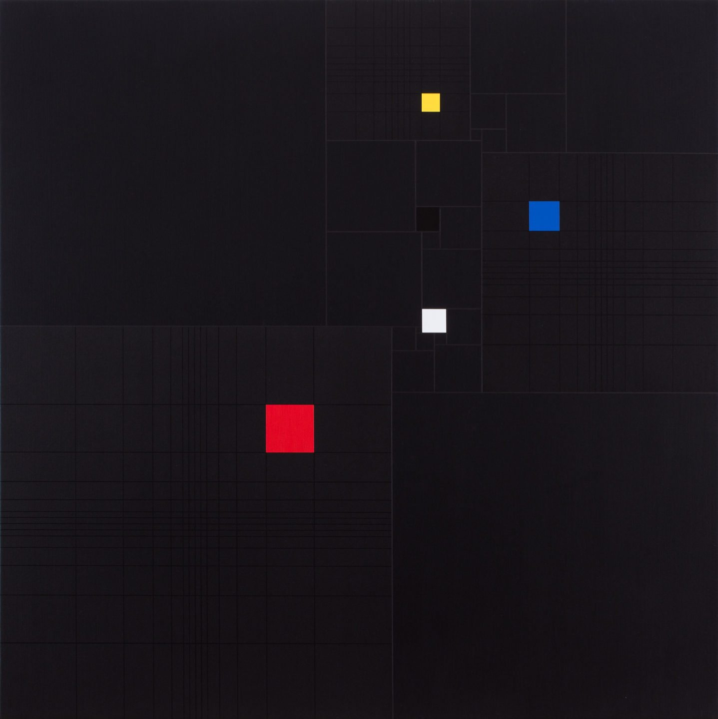 MK 36 Squares in Square (with 3 Fibonacci-sequence) 20170517 2017 acrylic on canvas 90x90cm (3)