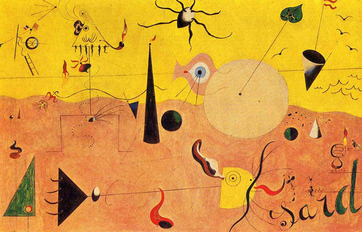 Joan Miró: Catalan Landscape (The Hunter), 1923 - 1924, Oil on canvas © Museum of Modern Art (MoMA), New York City, NY, US