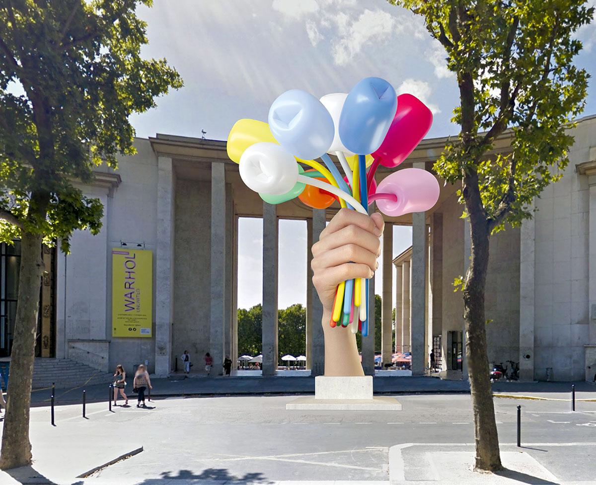 Jeff Koons tulipánok Párizsnak: gáláns ajándék vagy ügyes product placement?