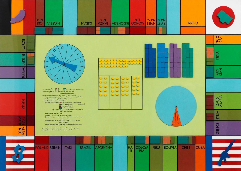 Öyvind Fahlström, World Trade Monopoly (B, Large), 1970 Photo: Albin Dahlström / Moderna Museet © Sharon Avery-Fahlström
