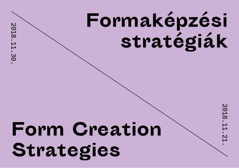 Formaképzési stratégiák