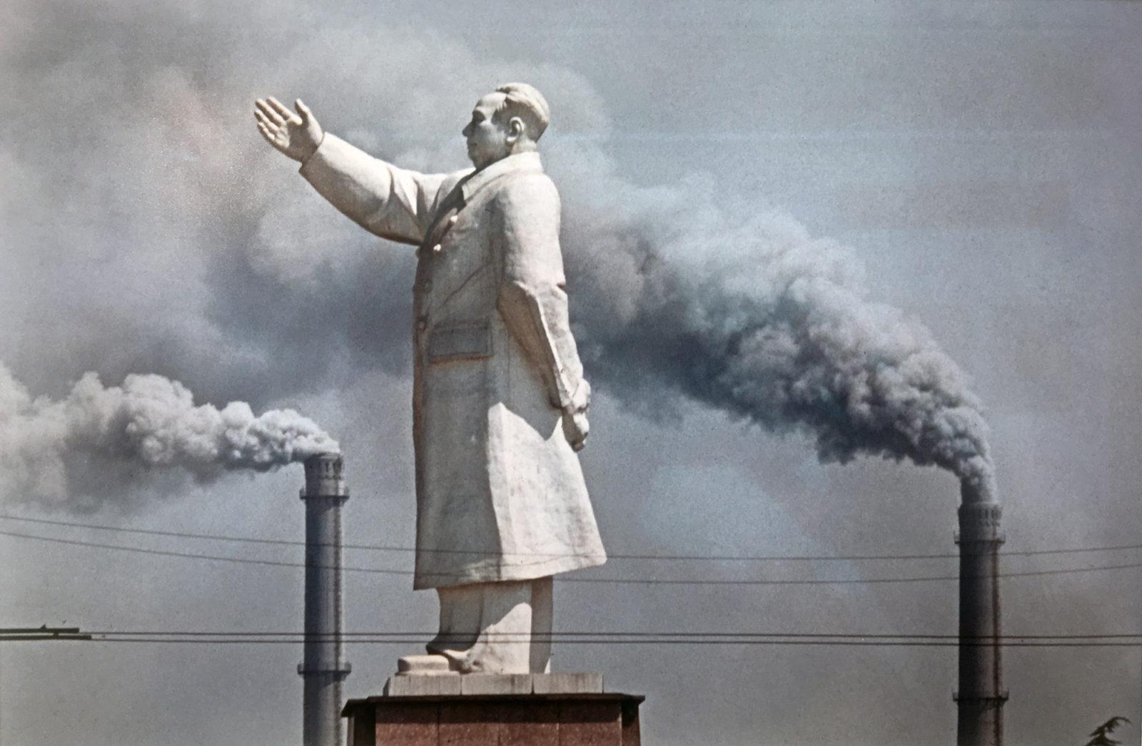 Marc Riboud: Mao Ce-tung szobor Wuhan-ban, 1971, a Month of Photography Bratislava 2018 jóvoltából