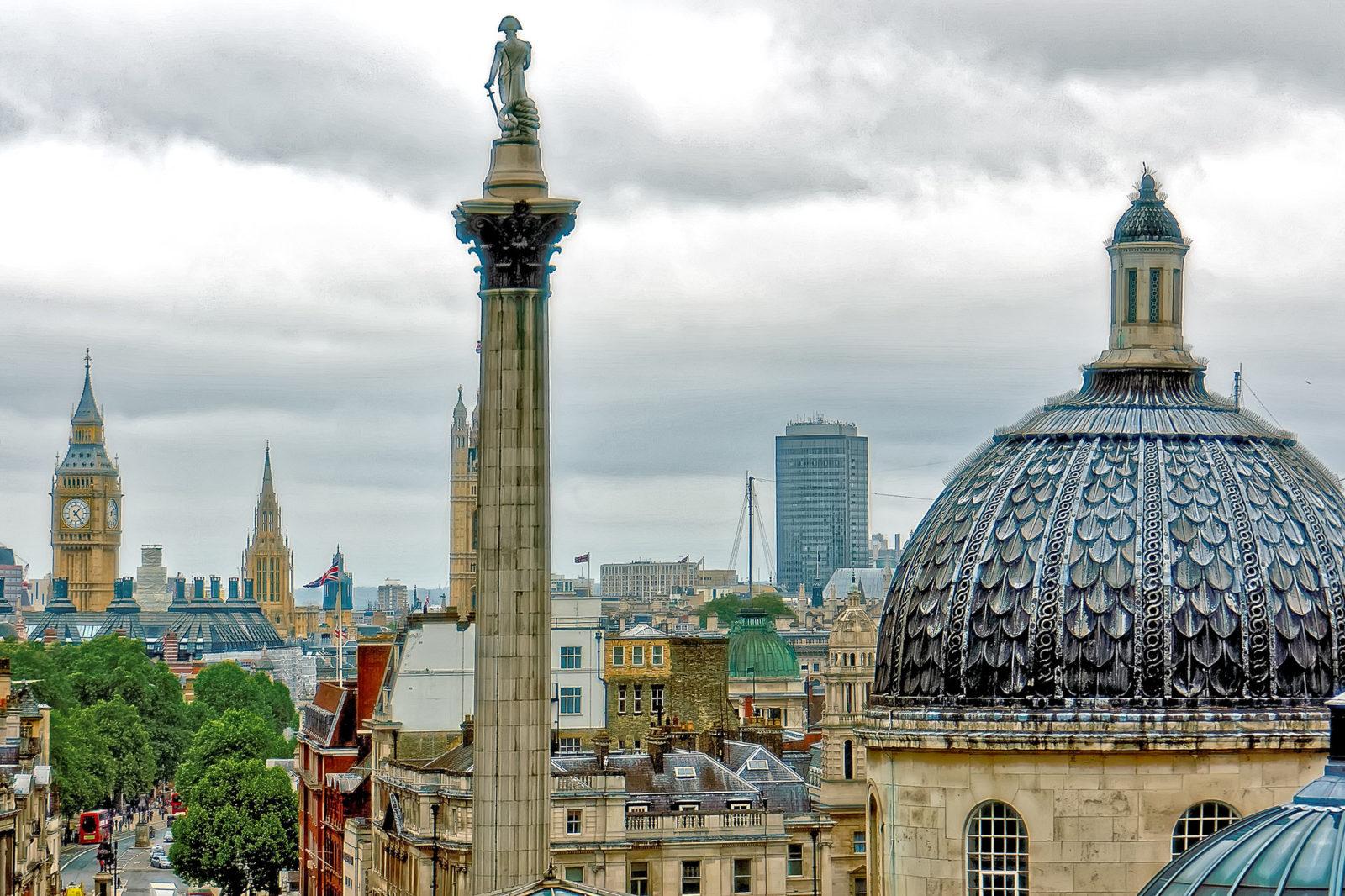 A Trafalgar Square Nelson admirális nélkül. Az anyaország dekolonizációja